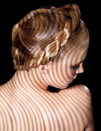 Coiffure attachu00e9 tresse - Femme cheveux longs sur Coupe2cheveux.com