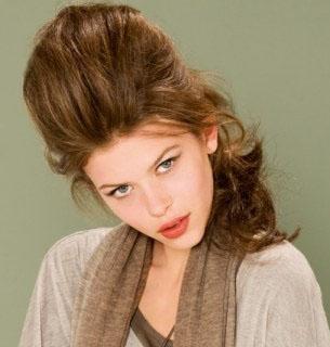 coiffure cheveux long bombé
