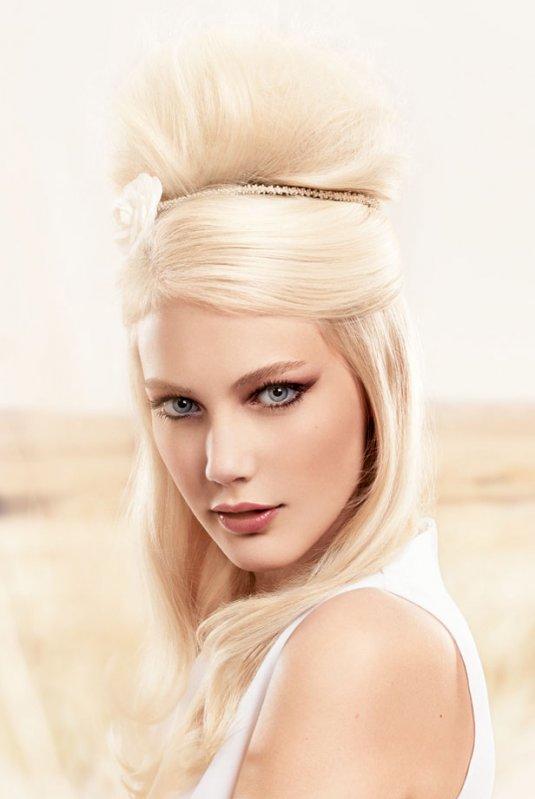 Coiffure chignon glamour - Femme cheveux longs sur Coupe2cheveux.com