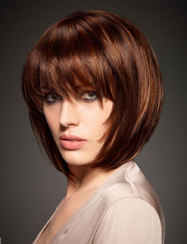 Coupe de cheveux femme court avec frange